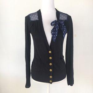Anthro Sparrow cardigan bow sweater Breezy Ride